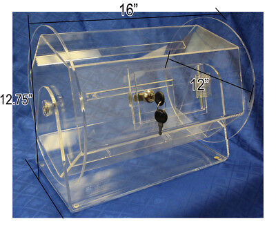 Medium Size Clear Acrylic Raffle Drum holds up to 5000 Tickets