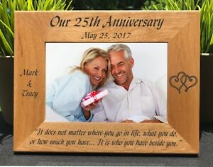 Personalized Engraved Wedding Anniversary Picture Frame Ebay