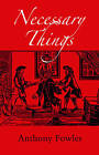 Necessary Things: A Historical Novel for Today by Anthony Fowles (Paperback, 2010)