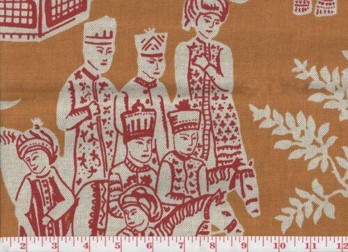 Novelty Print by P Kaufmann Drapery Upholstery Fabric Medina Magic CL Amber