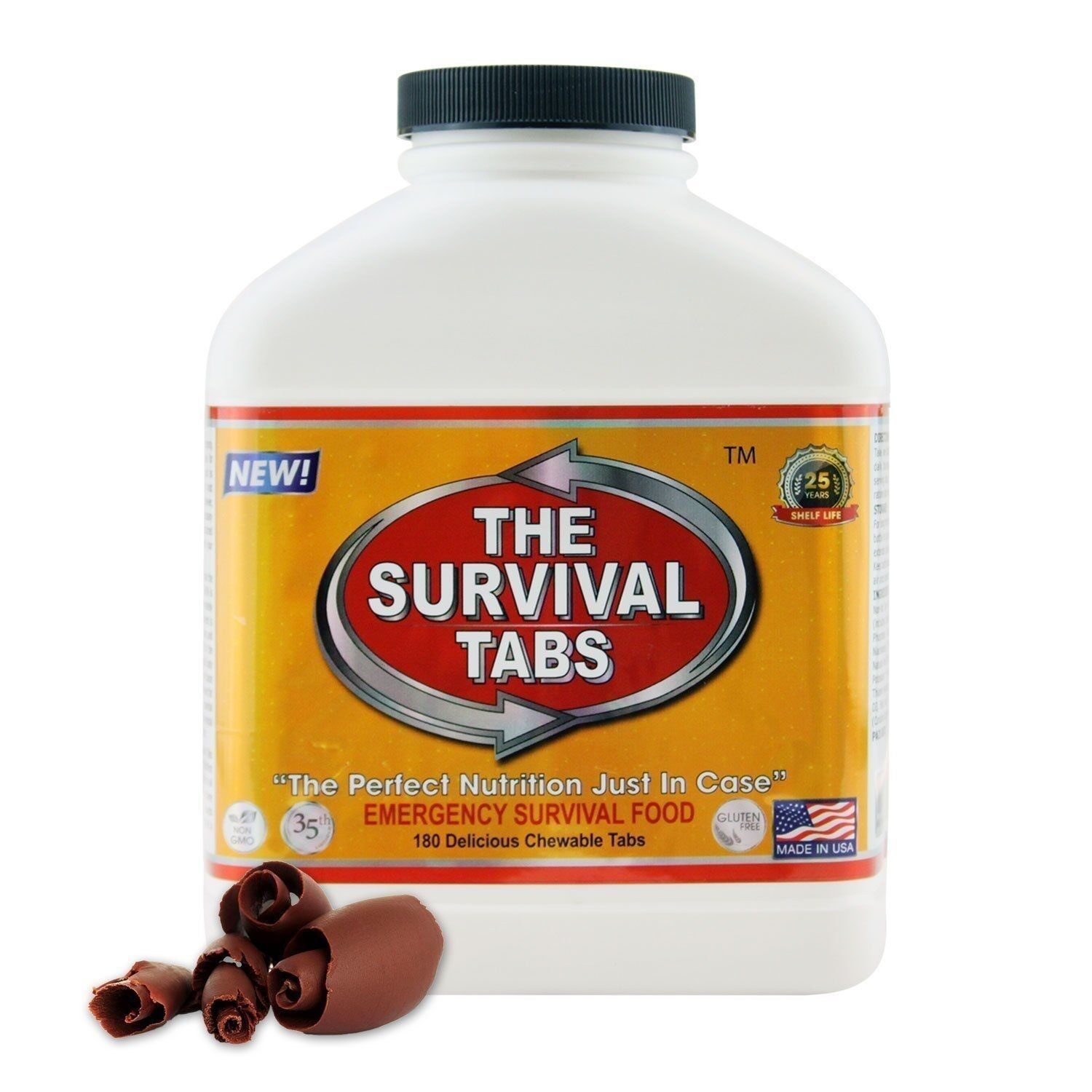 Emergency Tabs Vitality Food Science Supply 15  Day 180 Tablets Chocolate Flavor  fast shipping