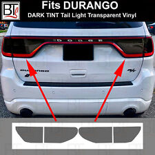 Rvinyl Rtint Headlight Tint Covers for Dodge Durango 2014-2020 Matte Smoke