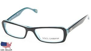 50ea2395fd D G Dolce   Gabbana DD 1225 1870 BLACK TURQUOISE EYEGLASSES DISPLAY ...