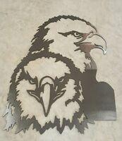 Bald Eagle Head Metal Wall Art Plasma Cut Decor