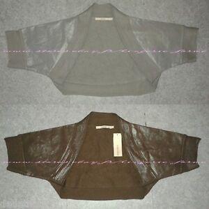 lot-2-bolero-chauffe-epaules-gilet-veston-femme-enfant-coton-cuir