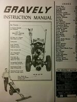Gravely L Li Ls 2-wheel Garden Tractor Owner Operating & Parts Manual 28pg 1955