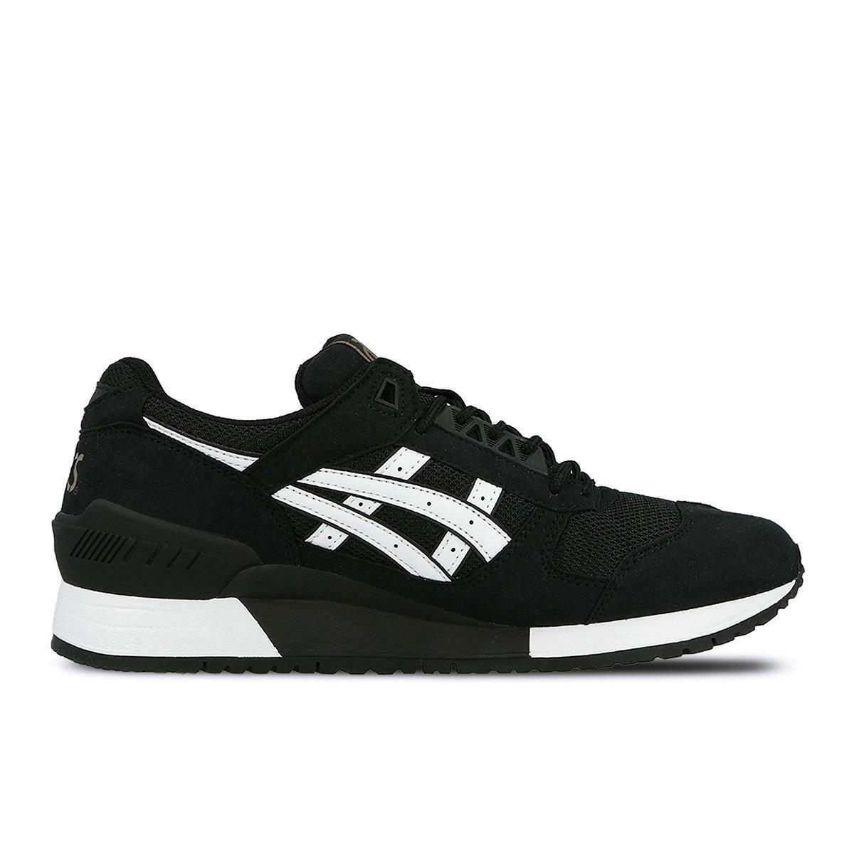 Mens ASICS GEL RESPECTOR Black Trainers H722N 9001