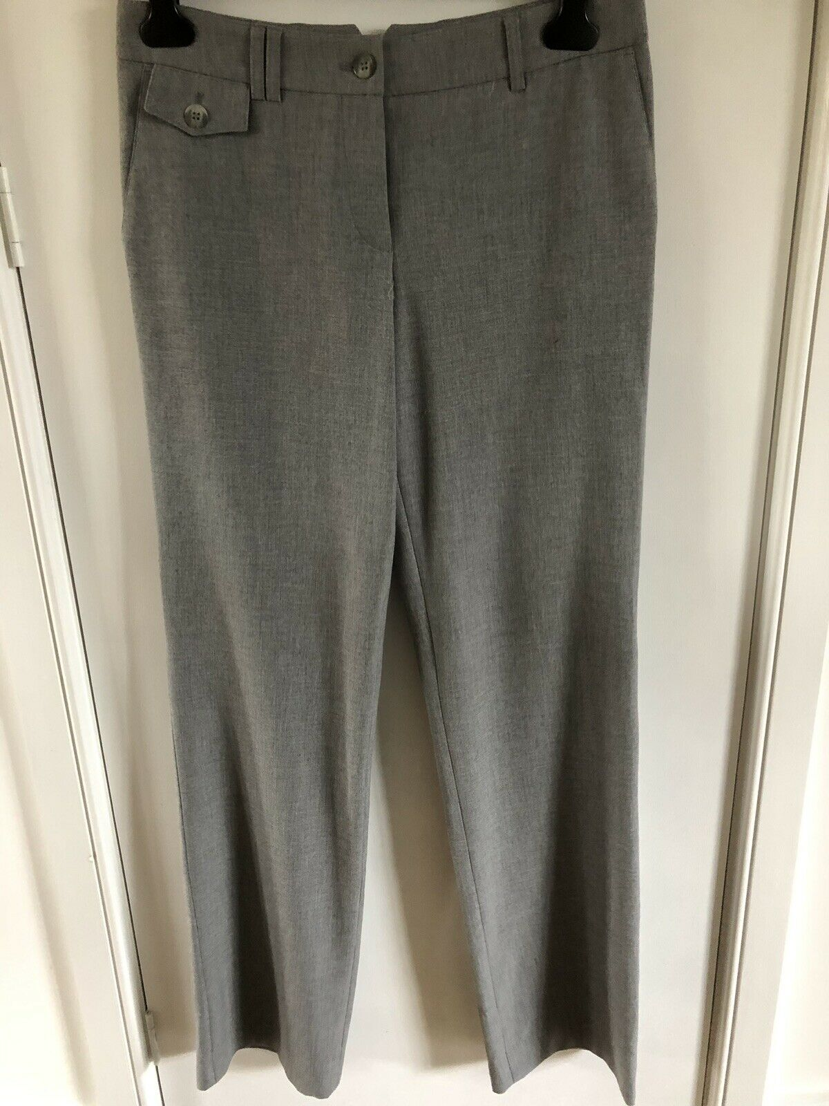 Marc Aurel Grey Smart Tailored Stretch Trousers Size 36 Tall Long 10   13 New