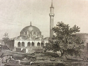 Africa-Egypt-Large-Mosque-of-Boulaq-choose-18th-Engraving-on-Steel-XIX-E-c1860