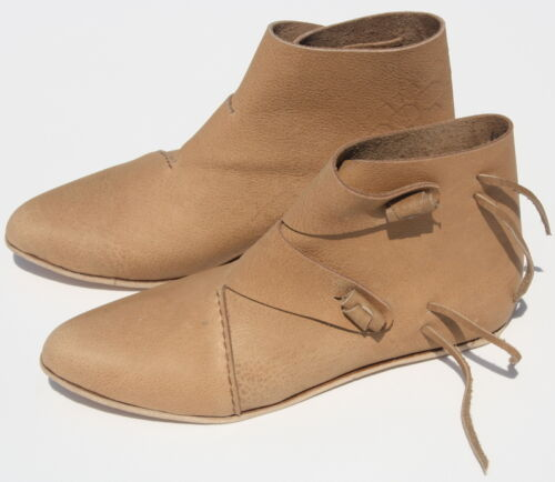 Viking Renaissance Shoes Theater Costume Shoes SCA Reenactment Toggle boots