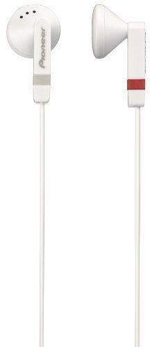 Pioneer SE-CE511-H Fully Enclosed Dynamic Inner-Ear Headphones - White