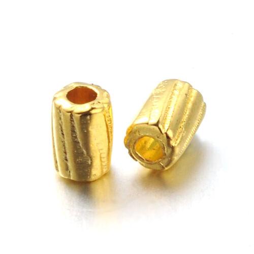 500 pcs Tibetan Style Alloy Beads Column Jewelry Beads Golden DIY Craft