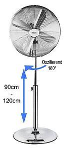 Vollmetall-Ventilator-Luftkuehler-Klimageraet-oszillierend-Standventilator-40cm