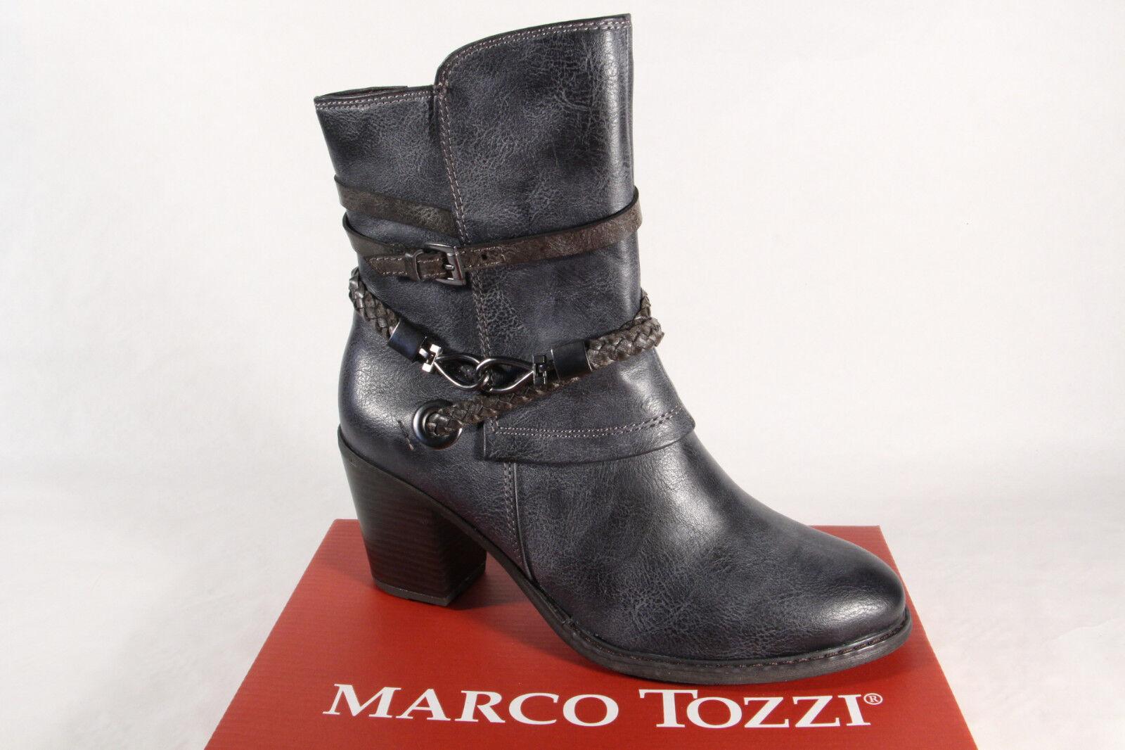 Marco Tozzi botas Mujer 25344 Botines Botines Botines de Cordón, Azul Marino Azul Nuevo  venta al por mayor barato