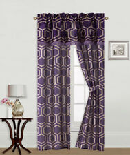 Item 6 5PC SET PRINTED WINDOW CURTAINS WITH ATTACHED VALANCE AND TIE BACK  DRAPES R2  5PC SET PRINTED WINDOW CURTAINS WITH ATTACHED VALANCE AND TIE  BACK ...