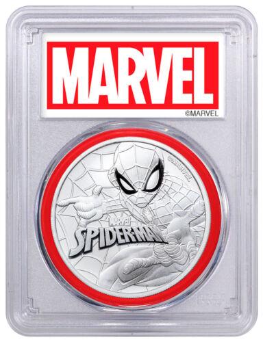 2017 Tuvalu Spider-Man 1 oz Silver Marvel Series PCGS MS70 Red Gasket SKU49938