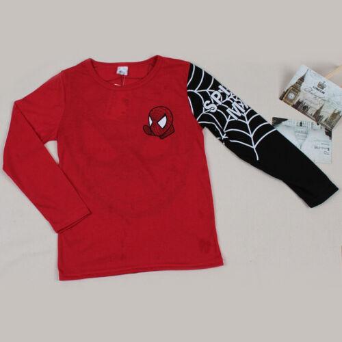 Kids Boys Spider-Man T-Shirt Tops Hooded Hoodie Sweatshirt Jacket Coat Sweater