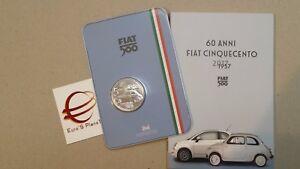 5-euro-2017-fdc-ITALIA-Italie-Italy-Italien-FIAT-nuova-500-1957-FCA