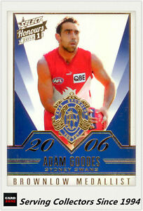 2014-Select-AFL-Honours-Brownlow-Gallery-Card-BG47-Adam-Goodes-Sydney