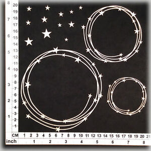 Chipboard Embellishments for Scrapbooking Cardmaking - String Circles 25138w