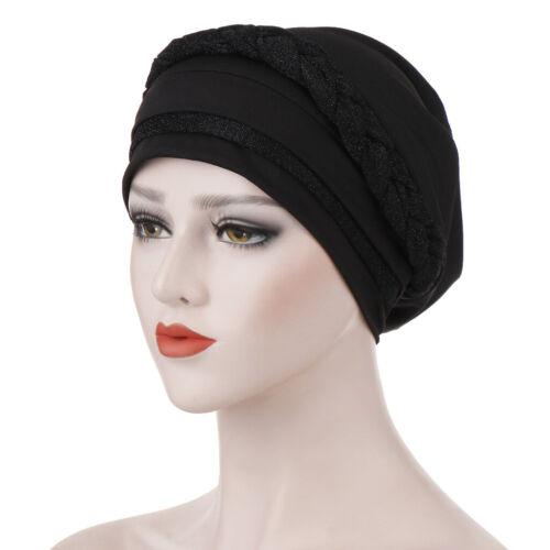 Women Islamic Head Scarf Muslim Hijab Braid Wrap Turban Hat Chemo Cap Head Wrap