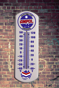VINTAGE-AMPOL-METAL-WALL-THERMOMETER-RETRO-VINTAGE-MAN-CAVE-OUTDOOR-INDOOR-WALL