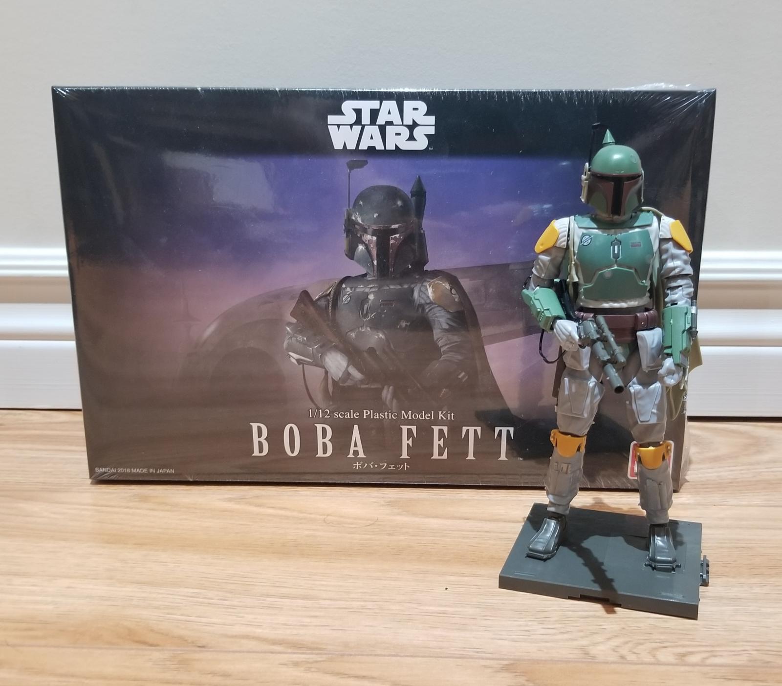 Star Wars Boba Fett 1:12 Scale Plastic Model Kit Brand New Sealed Bandai