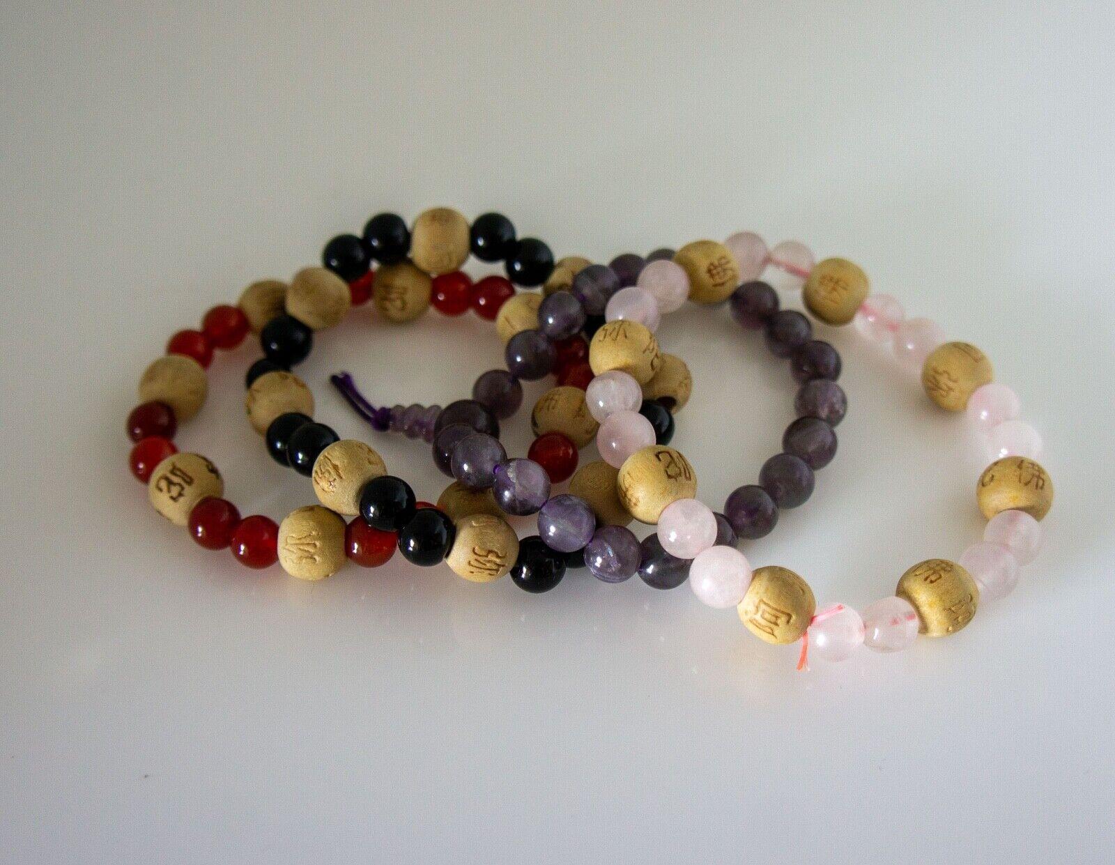 Beaded Bracelets Stack, Feng Shui, 4PCS - image 5