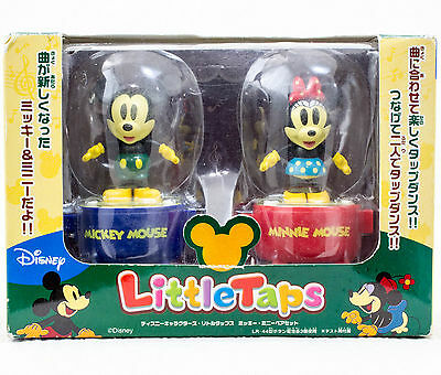 Disney Characters Mickey & Minnie Mouse Little Taps Sound Toy Figure JAPAN