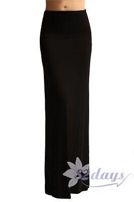 Azules Women'S Rayon Span Regular to Plus Size Maxi Skirt - USA