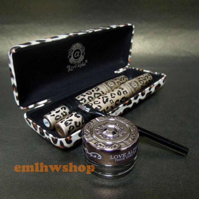 Set of LOVE ALPHA Leopard Case Mascara & Waterproof Eyeliner Gel (LA245/LA279)
