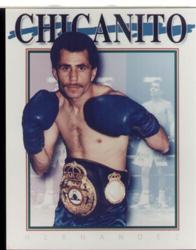 "GENARO /""CHICANITO HERNANDEZ BOXING 8 X 10  COLOR  PHOTOGRAPH"