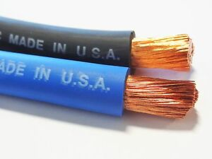 BUY PER FOOT 2 AWG COPPER WELDING//BATTERY CABLE BLUE 600V MADE IN USA EPDM