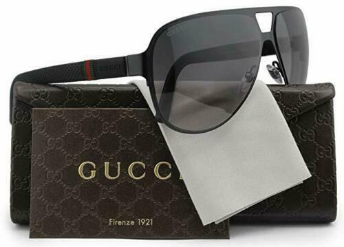 Gucci Men\u0027s Sunglasses GG2252 M7A Black Matte/Grey Lens Aviator 62mm  Authentic