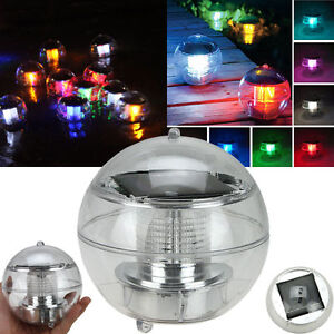 Led Light Solar Power Swimming Pool Automatical Color