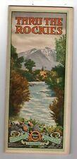 Early 1900's Brochure Colorado Midland Railroad Thru The Rockies