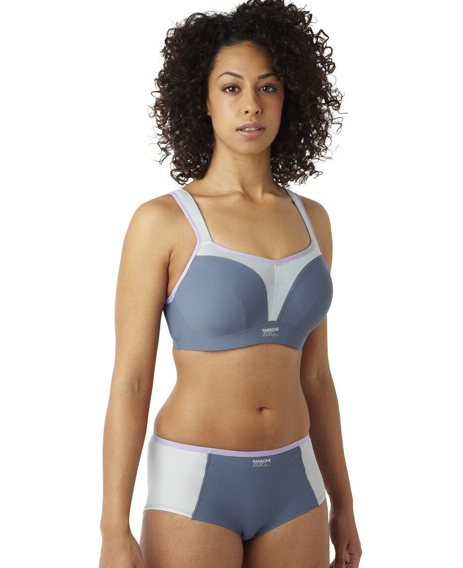 d40ca55d4a4 ... Panache Panache Panache Women s 5021 Grey UW Sports Bra NWT Maximum  Support Large Cup Sizes 0bb672 ...
