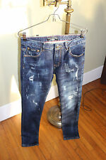 "New Authentic Philipp Plein ""Fight Club"" Men's Straight Cut Jeans Size 30"