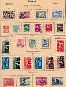 Litauen 1936-1939 Gestempelt Auf Albumblatt Nicht Komplett Europa