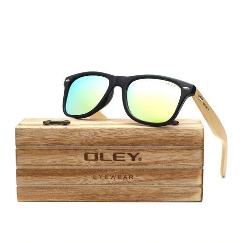 Men Bamboo Polarized Sunglasses Fashion Retro UV400 Travel Driving Fishing Sport