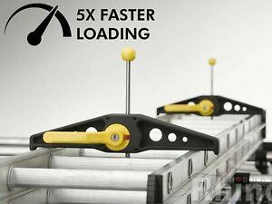 Rhino SafeClamp Lockable Ladder Clamps Van Roof Rack Wide Safe Clamp Pair RAS21