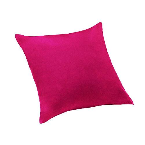 """Pink sergé de coton 18 /"""" Canapé Coussin décoratif Couverture zippée rempli uk made 45cm"""