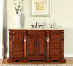 62-inch-Single-Bathroom-Vanity-Cabinet-White-Sink-Creamy-Marble-Stone-Top-0267CM