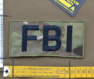 Ricamata-Embroidered-Patch-034-FBI-Big-034-Multicam-with-VELCRO-brand-hook