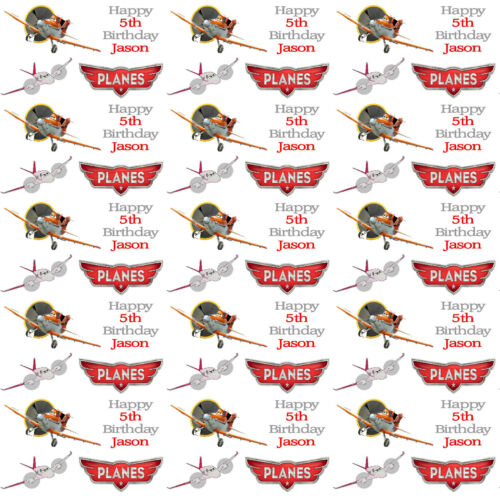 Personalised Gift Wrapping Paper PLANES Style Kids Birthday Any Name!