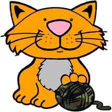 30 Custom Cute Kitty With Camo Yarn Personalized Address Labels