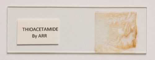 THIOACETAMIDE Microscope slide for polarization