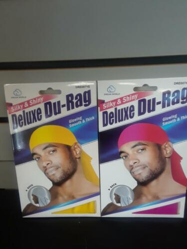 -YELLOW+HOT PINK-NEW!!!!!!!! Smooth /& Thick Shiny /& Silky Deluxe Du Rag Durag