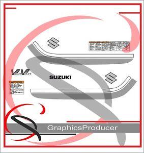 LAMINATED SUZUKI RV RV125 SIDE COVER DECAL HIGH QUALITY