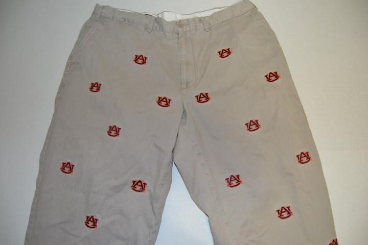 PENNINGTON BAILES AUBURN TIGERS AU TAN KHAKI BROWN DRESS PANTS MENS SIZE 40 X 27